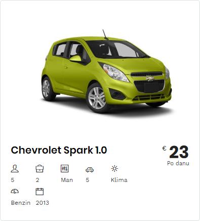 rent a car chevrolet spark