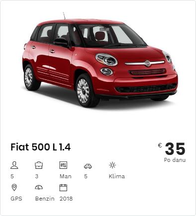 Rent a Car Fiat 500L