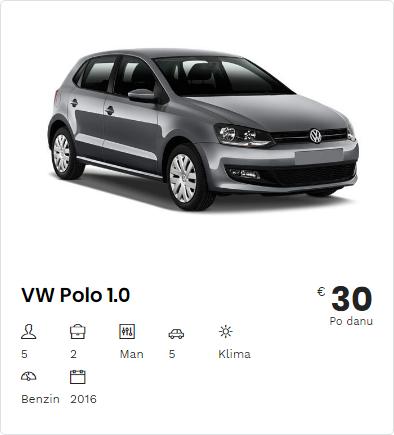 Rent a Car VW Polo