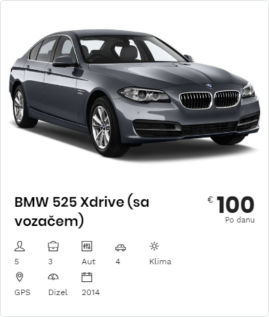 Rent a Car BMW 525 XDrive