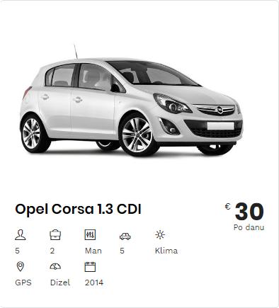 Rent a Car Opel Corsa