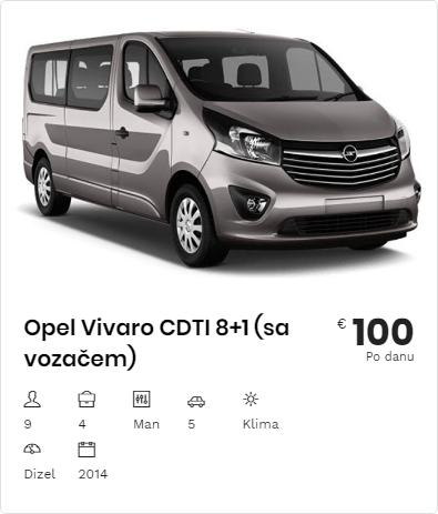 Rent a Car Opel Vivaro